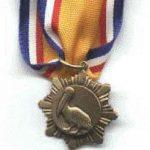 bronze pelican medallion